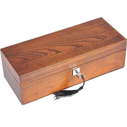 Reloj Storage Box Wood para Hombres o Mujeres 5 Relojes Slots con Soft Pillow Wrist Lockable