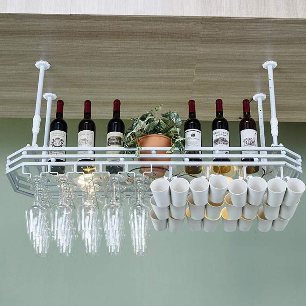 M-JH Botelleros, Soporte de Vidrio de Vino para Colgar en el ...