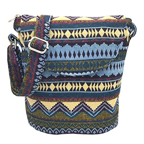 Tramzzd M Cute Cloth Satchel Saddle Zipper Pocket Swing pack Bag Collection Messenger Bag Crossbody Shoulder Handbags Women Travel Purse Wallet Pouch (Purple Line) from Tramzzd M