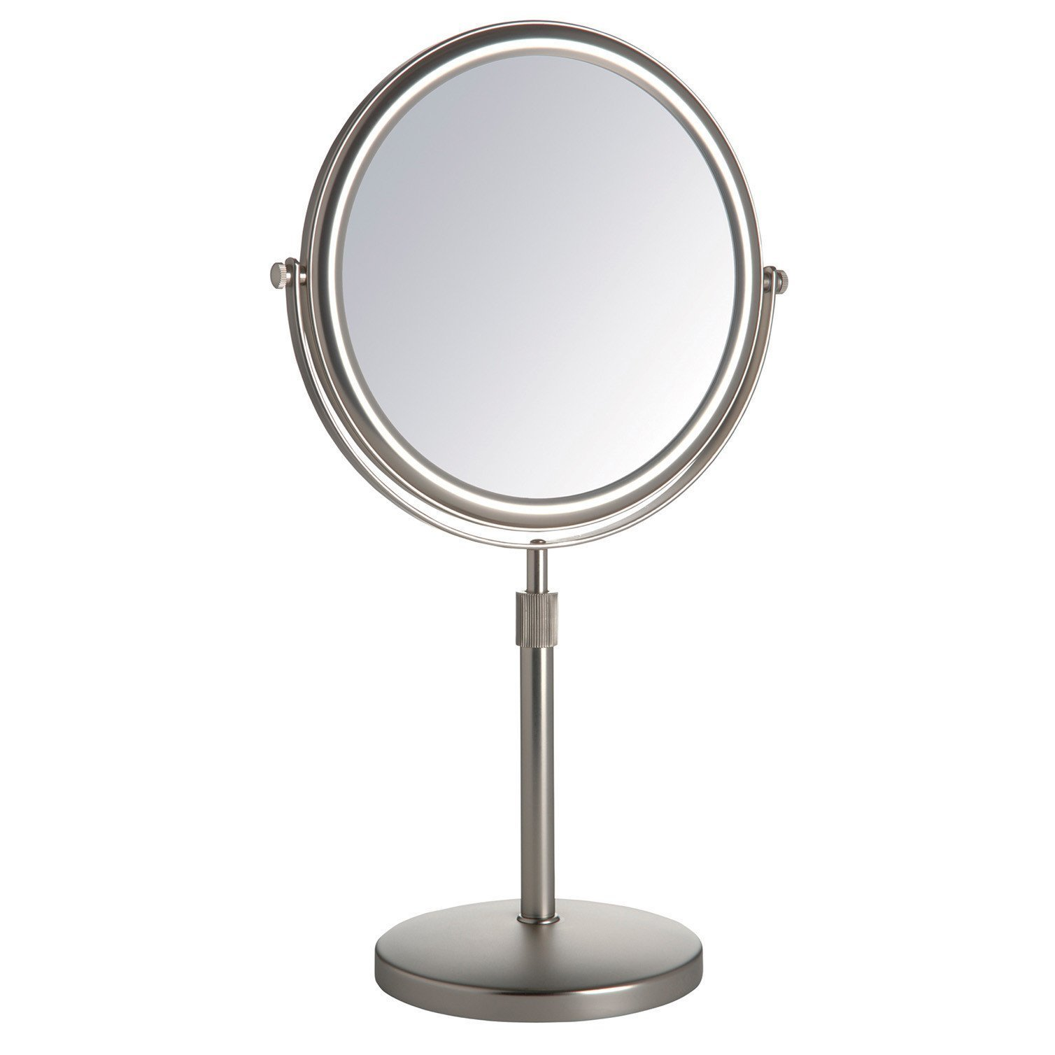 Jerdon JP4045N 9-Inch Vanity Mirror with 5x Magnification, Nickel Finish by Jerdon