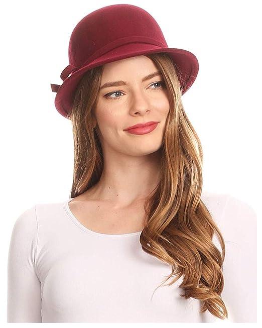Sakkas 0621LC - Cappello Invernale da Donna con Fibbia in Lana Stile  Vintage Cloche con Fiocco in Nastro - Burgandy Taglia Unica  Amazon.it   Abbigliamento ab8f2fbbbdb2