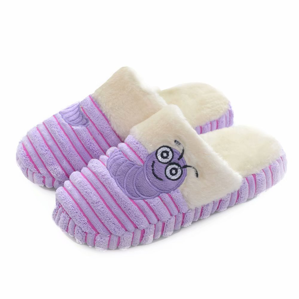 Warm Winter Unisex Cute Insect Plush Soft Velvet Non-Skid Sole Indoor Slipper
