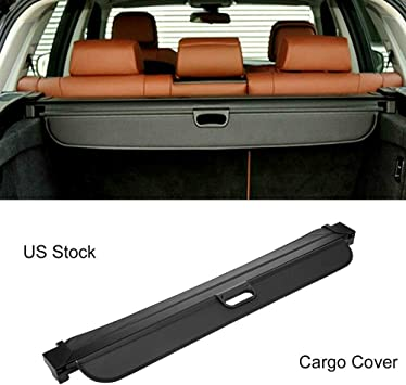 Black Retractable Rear Trunk Luggage Cargo Cover Area For 2008-2016 BMW X5,E70