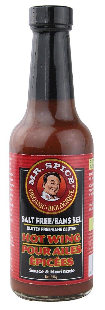 Mr Spice: Organic Salt Free Hot Wing Sauce 10.5 Oz (12 Pack)