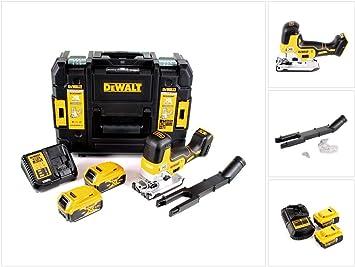 DeWalt DCS 335 P2 - Sierra de calar inalámbrica (18 V, 2 baterías de 5 Ah, cargador en caja TSTAK): Amazon.es: Bricolaje y herramientas