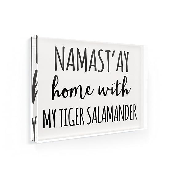 Imán para nevera NAMAST ay casa con mi Tiger Salamander Simple ...