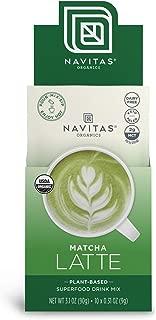 product image for Navitas Organics Matcha Latte, 3.1 oz, Pouch,10 Single Servings — Organic, Non-GMO, Dairy-Free