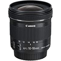 Canon EF-S 10-18mm f/4.5-5.6 IS STMLens,Black(EFS10-18ISST)