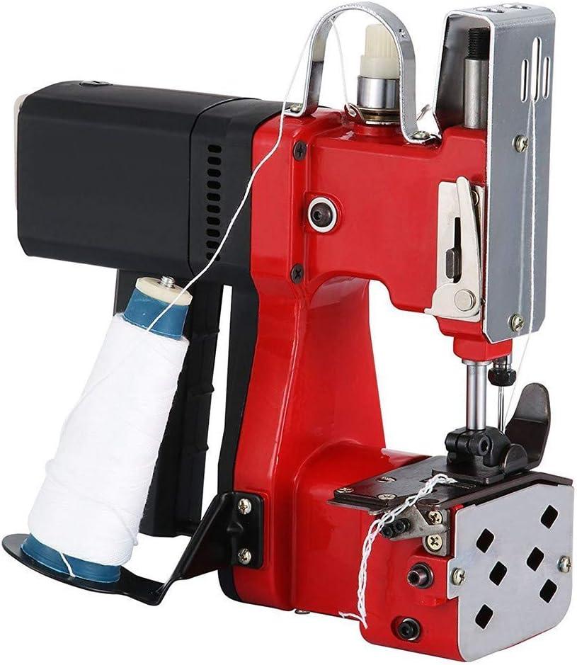 SEAAN Máquina de Sellado de Bolsas Industriales Máquina de Coser Portátil para Bolsas de Papel, Sacos, Bolsas de PVC, Bolsas de tela (Red)