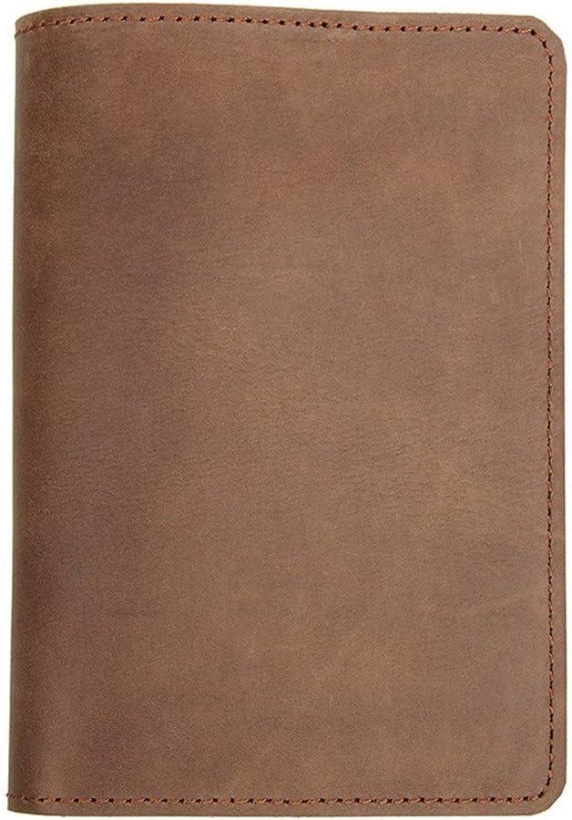 Monedero Masculino Titular retro del titular del pasaporte billetera de cuero bolso del pasaporte principal de la capa de cuero de caballo loco de los hombres de la tarjeta de embarque paquete de la t