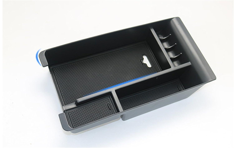 baodiparts Black Car Accessories Interior Armrest Storage Box Handle Glove Box Insert Organizer Tray 1-pack
