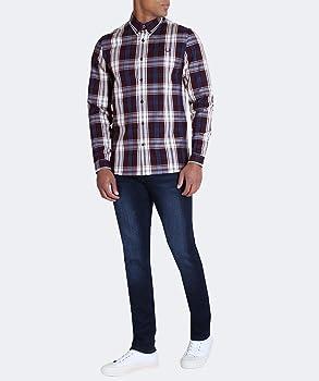 Fred Perry Hombres camisa tartán negrita Caoba L: Amazon.es: Ropa ...