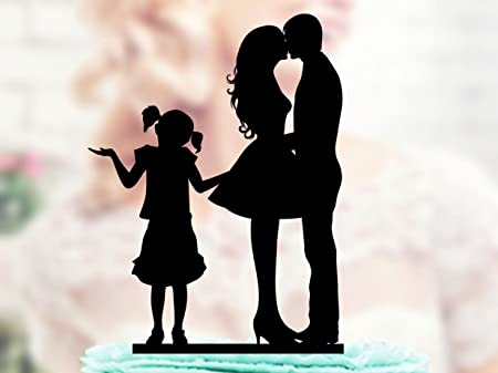 Anniversario Matrimonio Con Bambini.Qidushop Family Wedding Cake Topper Sposa E Sposo Withteenager