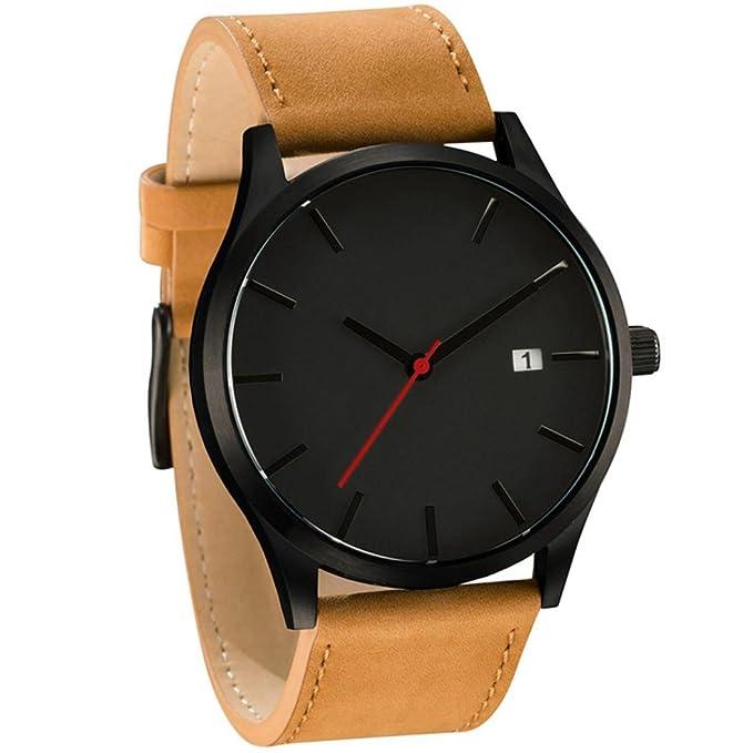 Amazon.com: Reloj de pulsera, de cuarzo, para hombre, con ...