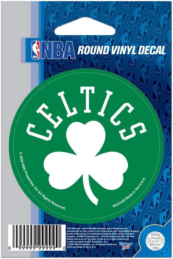 "WinCraft NBA Boston Celtics WCR66664091 Round Vinyl Decal, 3"" x 3"""