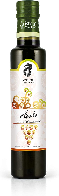 Ariston Apple Infused Sweet Balsamic Vinegar 8.45 fl oz Premium Organic 100% Italian Red Wine Vinegar