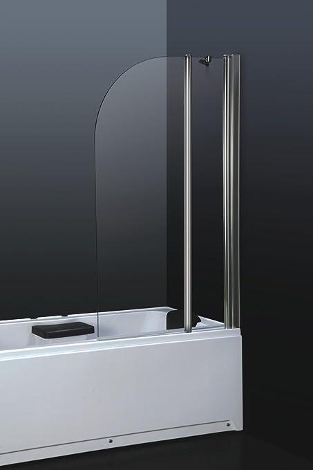 massG 6 mm cristal de seguridad templado cromado mampara de baño plegable de aluminio/de ducha/de acero inoxidable baño toallero de barra: Amazon.es: Hogar