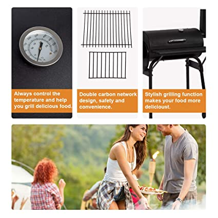 Amazon.com: Parrilla para barbacoa, carbón, para exteriores ...