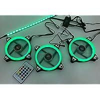 Kit 3 Cooler LED 120MM RGB com 1 Fita LED e Controle DX-123L DEX