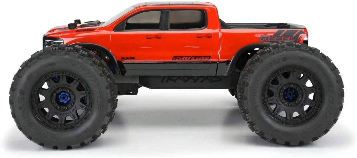 Pro-line Racing 1//8 Pre-Cut 2020 Ram Rebel 1500 Clear Body PRO353617 E-REVO 2.0