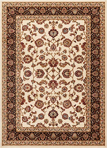 (Noble Sarouk Ivory Persian Floral Oriental Formal Traditional Area Rug 8x10 8x11 ( 7'10