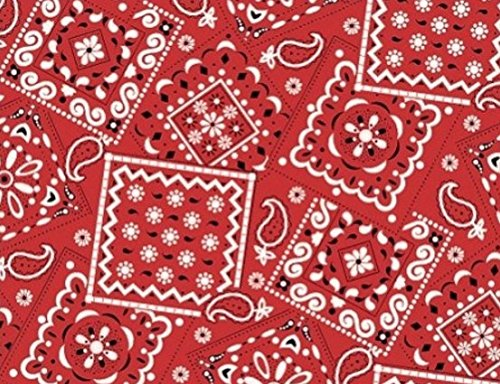 Bandana Fabric Red - Bandana Red Fabric by The Yard