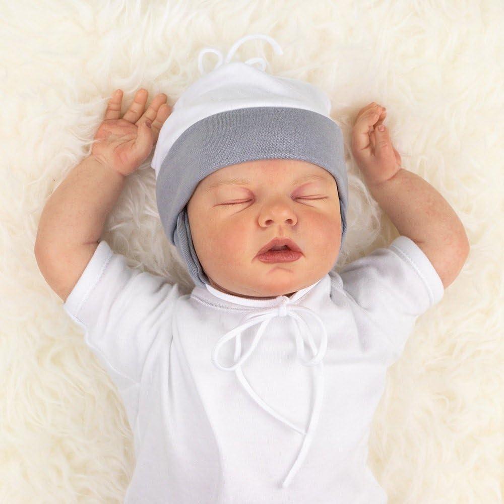 Wei/ß und Hellblau//Erstlingsm/ützen in vielen Farben als Babym/ütze f/ür Neugeborene /& Kleinkinder in verschiedenen Gr/ö/ßen Baby Sweets Unisex Baby M/ütze f/ür M/ädchen /& Jungen in Grau 0-18 Monate