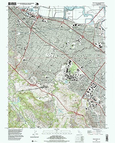 Palo Alto CA topo map, 1:24000 scale, 7.5 X 7.5 Minute, Historical, 1997, updated 1999, 26.8 x 21.5 IN - - Oak Map Fair
