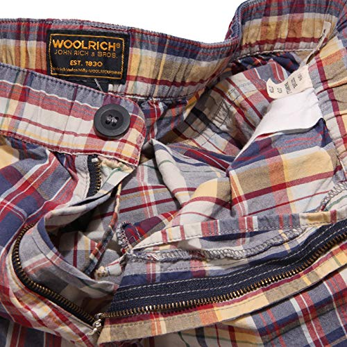 Short Bermuda blu Rosso Corto Men Woolrich Pantalone Uomo 68952 Trouser zwnY5qF