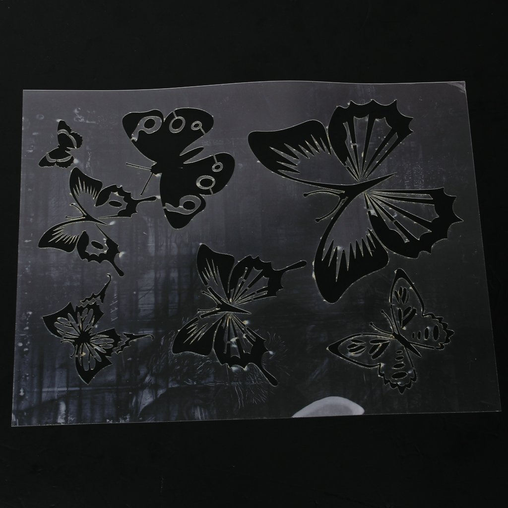 Wall painting butterfly stencil pattern amazon diy tools amipublicfo Images