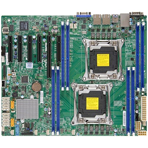 Supermicro Motherboard MBD-X10DRL-I-B LGA2011 E5-2600v3 C612 DDR4 PCI-Express SATA ATX Brown Box