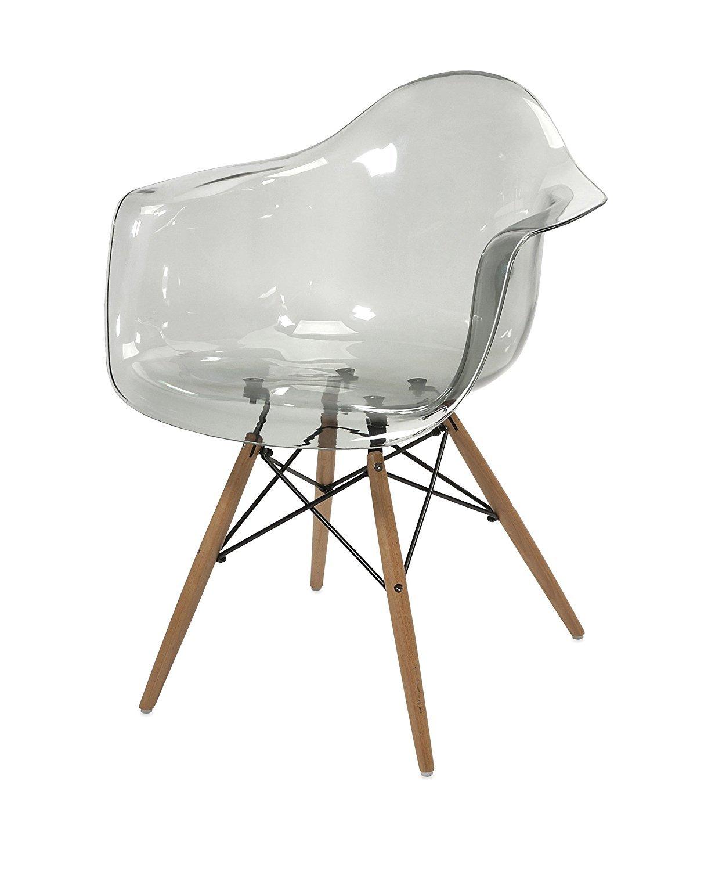Midland Oak Furniture Eiffel style Dining/Office Chair Armchair Lounge Seat (Black)