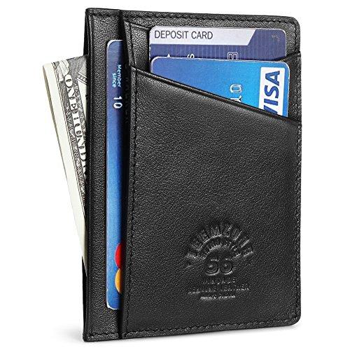 teemzone Wallets for Men Slim & Minimalist - Genuine Leather wallet with RFID Blocking money clip