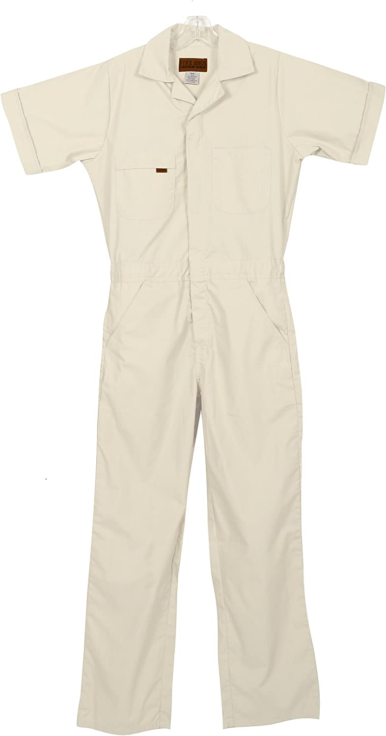 Five Rock Poplin Short Sleeve Unlined Coveralls Relaxed Fit