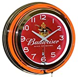 king cobra beer - Budweiser King of Beers Red Double Neon Advertising Clock Man Cave Bar Decor