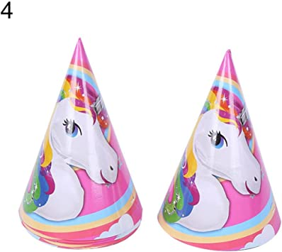 Unicorn Fantasy Birthday Party Supplies Decoration Cone Paper Hats Pack of 8