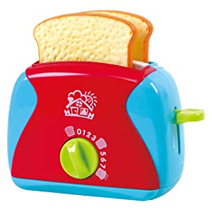 PlayGo Lightweight Play Kitchen Bread Slices Toaster Toy Pretend Play Pop-Up for Kids Age 3 Years & Up