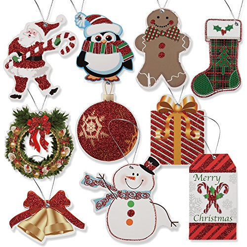 - 100 Pack of Large Christmas Gift Tags in 10 Assorted Designs by Gift Boutique