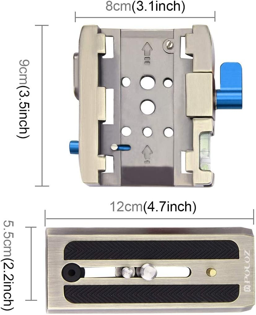 Color : Gold XIAOMIN Quick Release Clamp Adapter Quick Release Plate for DSLR /& SLR Cameras Premium Material
