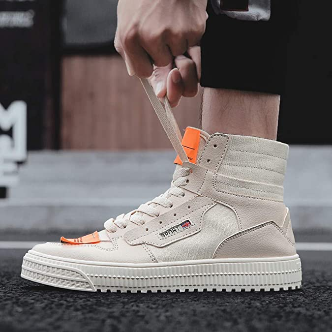 Amazon.com | AgrinTol Fashion Casual High-top Flat Sports Sneakers Canvas Mens Shoes | Fashion Sneakers