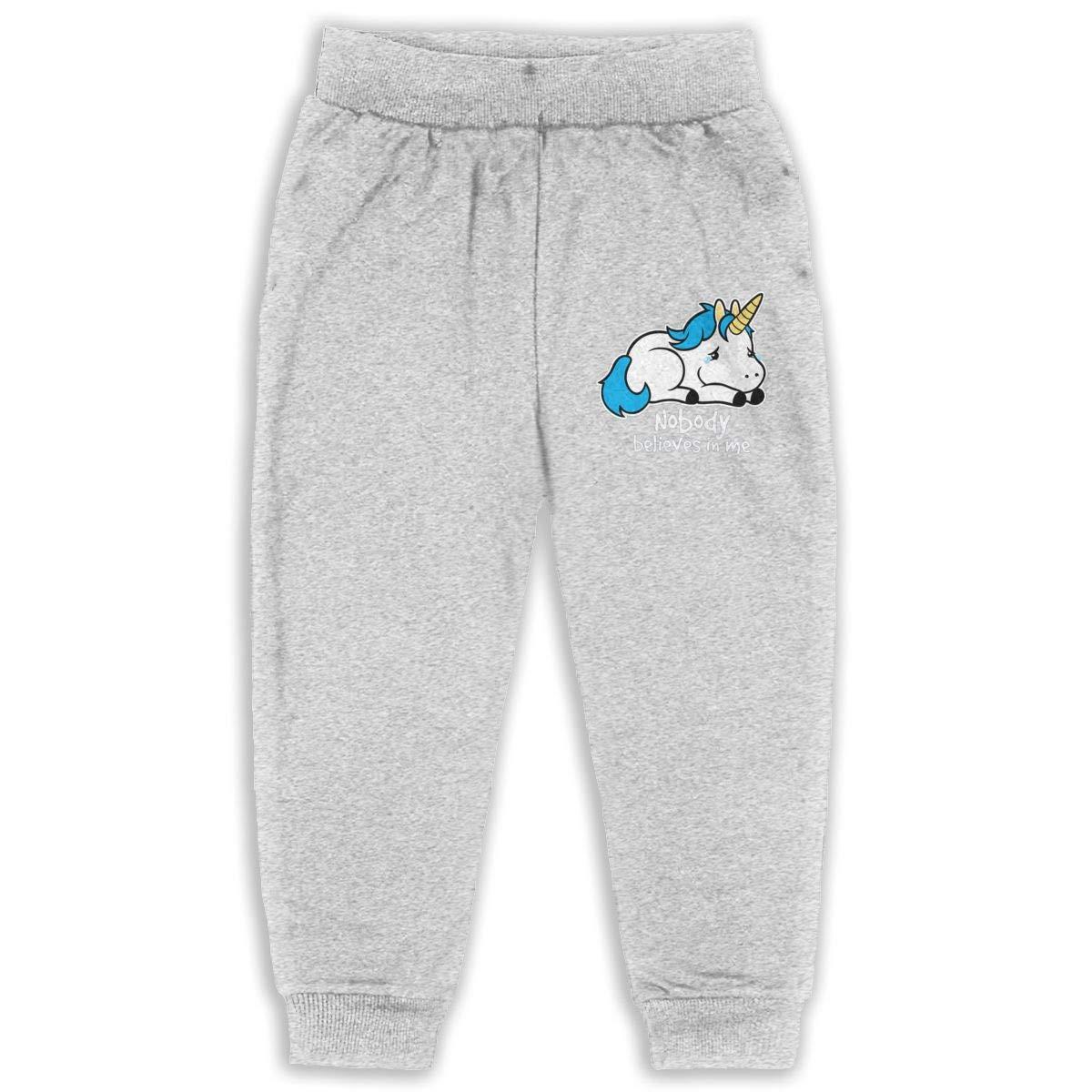 Sad Unicorn Kids Cotton Sweatpants,Jogger Long Jersey Sweatpants