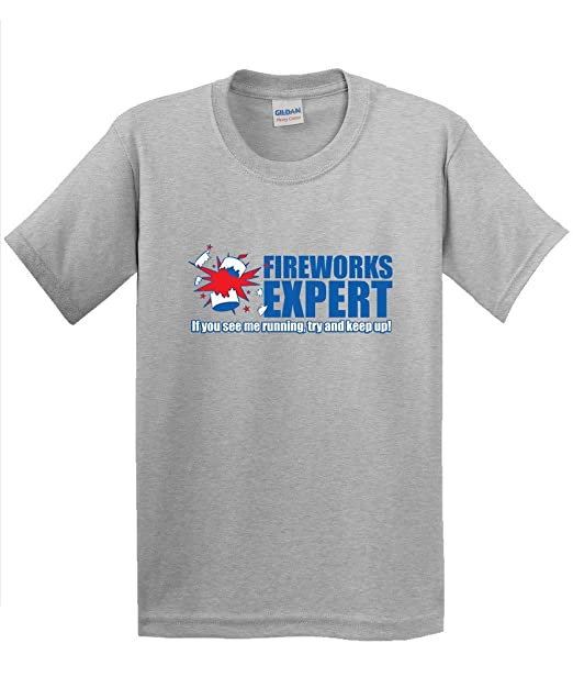 71ce8a02c Amazon.com: Feelin Good Tees Fireworks Expert If You See ME Running 4th of  July Men's Beefy T-Shirt: Clothing