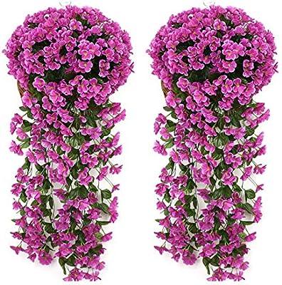Fake Flower Vine Hanging Garland Plant Artificial Home Garden Wedding Decor JIOD