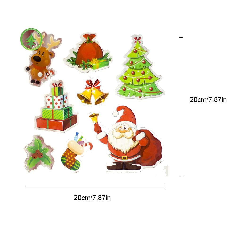 Biback Christmas Decoration Santa Claus Christmas Tree Stickers Decoration by Biback (Image #1)