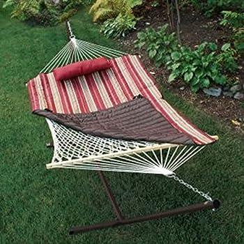 algoma    pany 8912 natural cotton rope hammock with stand 52 x 76   amazon     algoma    pany 8912 natural cotton rope hammock      rh   amazon