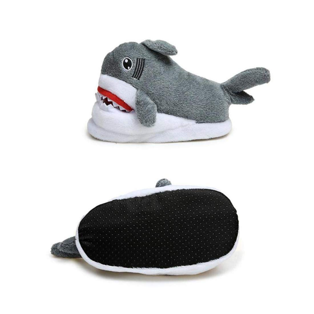 Algod/ón Tibur/ón Zapatillas para Adultos Polar De Coral del Flip-Flop contra La Historieta De La Resbal/ón Unisex Caliente Inicio Zapatos