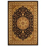 Cheap Safavieh Lyndhurst Collection LNH222A Traditional Oriental Medallion Black and Ivory Area Rug (5'3″ x 7'6″)