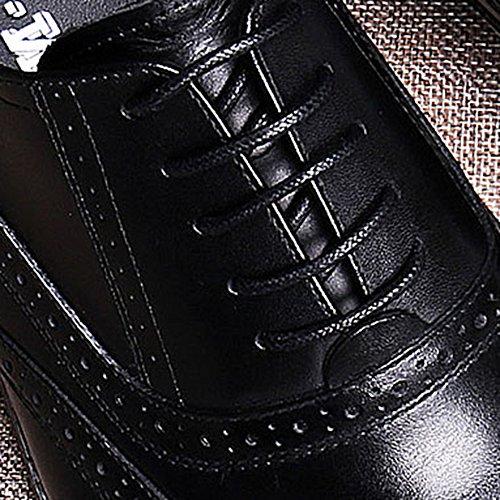 MERRYHE Hommes Classique Oxford Réel En Cuir Brogues Formelle Chaussures Derby Business Suit Lacets Pour Homme Mariage Soirée Travail Partie Black G5oN18MXE