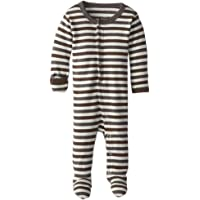 Lovedbaby Baby-Boys Organic Footed Overall, Gray Stripe, Preemie-NB