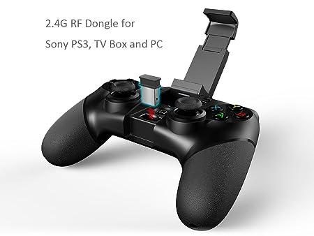 Videojuego Bluetooth & 2.4G Controlador - iPega 9076 Wireless Mando de Juego Inalámbrico Gamepad Joystick Controller para Sony PS3, Android Smartphone ...